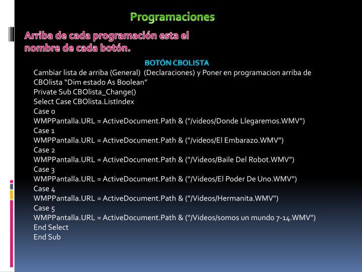 Programaciones