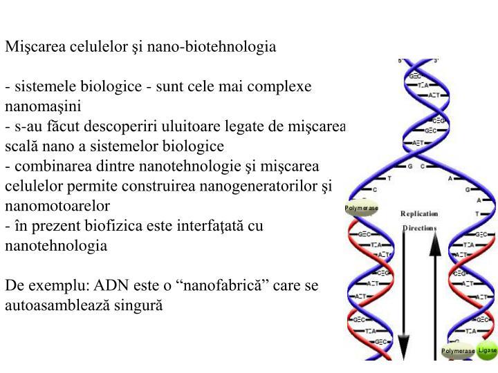 Mişcarea celulelor şi nano-biotehnologia