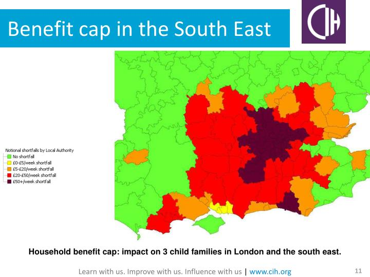 Benefit cap in the South East