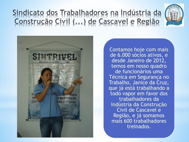 Sindicato dos Trabalhadores na Indústria da Construção Civil (...) de Cascavel e Região