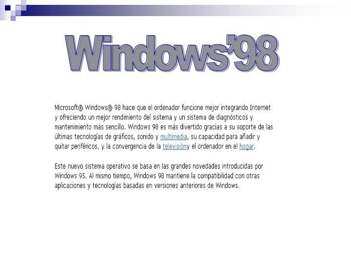 Windows'98