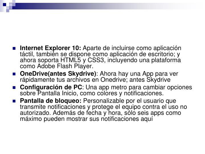 Internet Explorer 10: