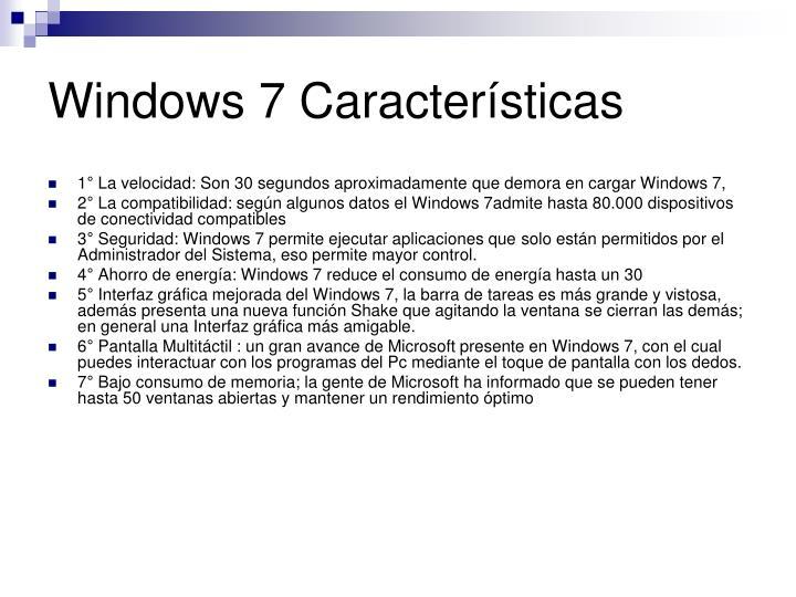 Windows 7 Características
