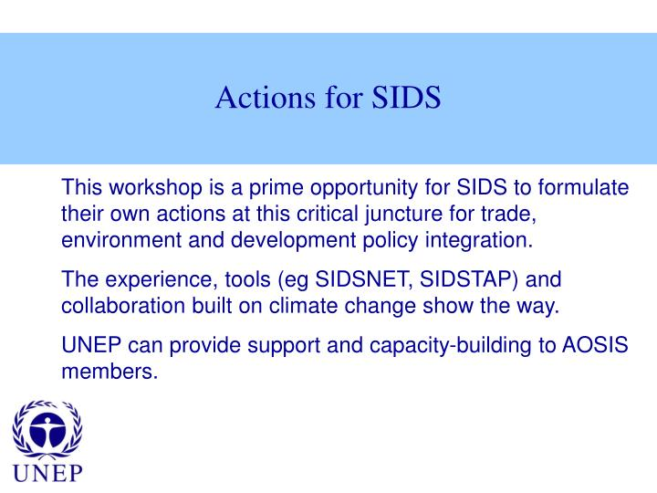 Actions for SIDS