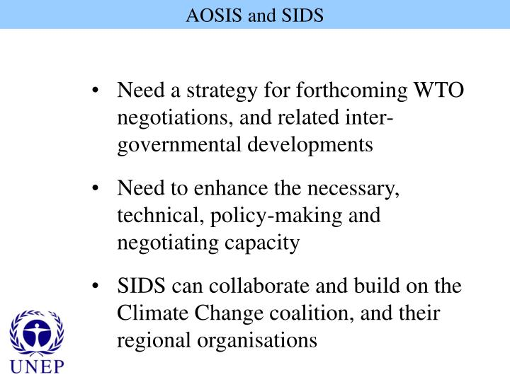 AOSIS and SIDS
