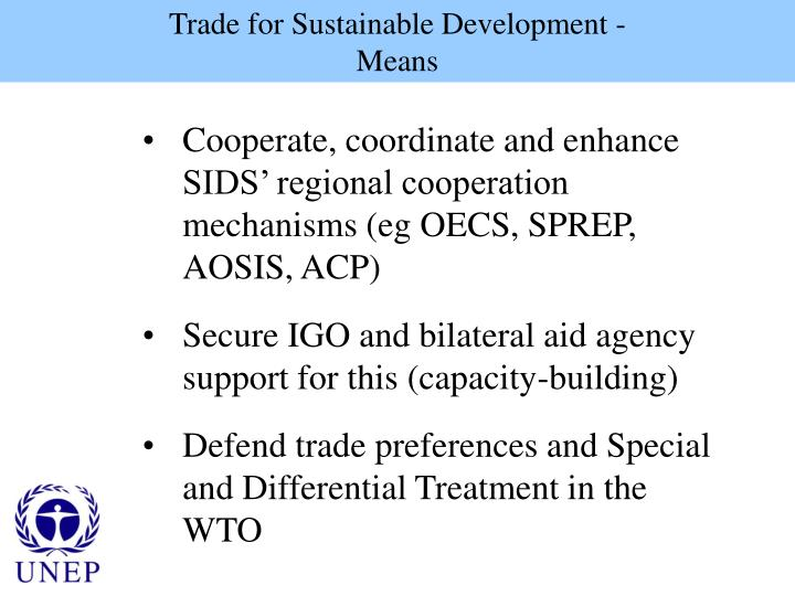 Trade for Sustainable Development -