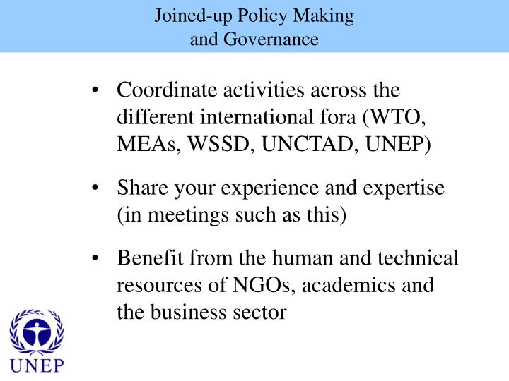 Joined-up Policy Making