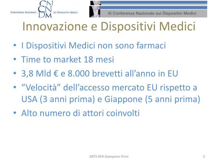 Innovazione e Dispositivi Medici