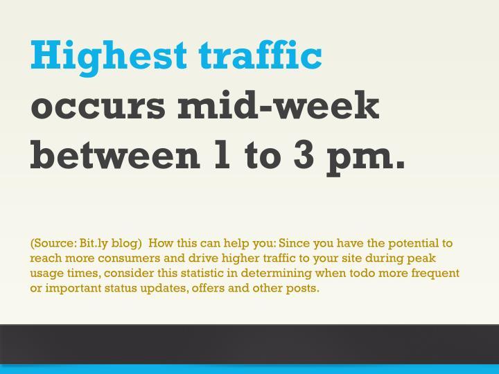 Highest traffic