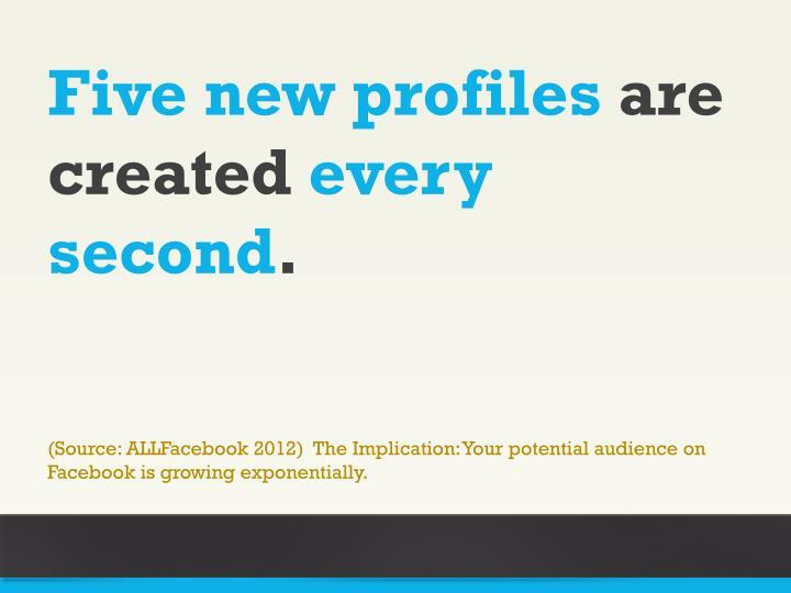 Five new profiles