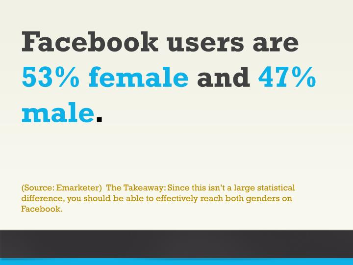 Facebook users are