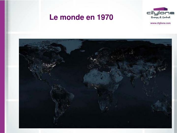 Le monde en 1970
