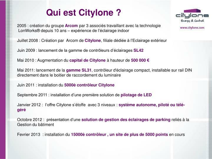 Qui est Citylone ?
