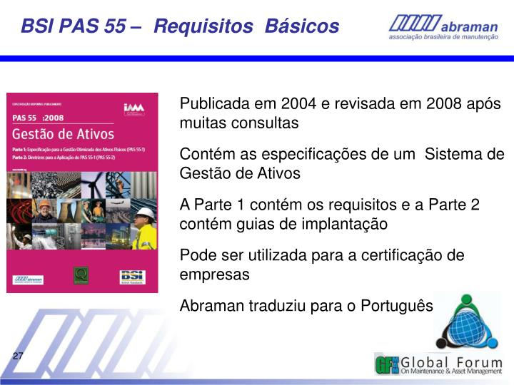 BSI PAS 55 –  Requisitos  Básicos