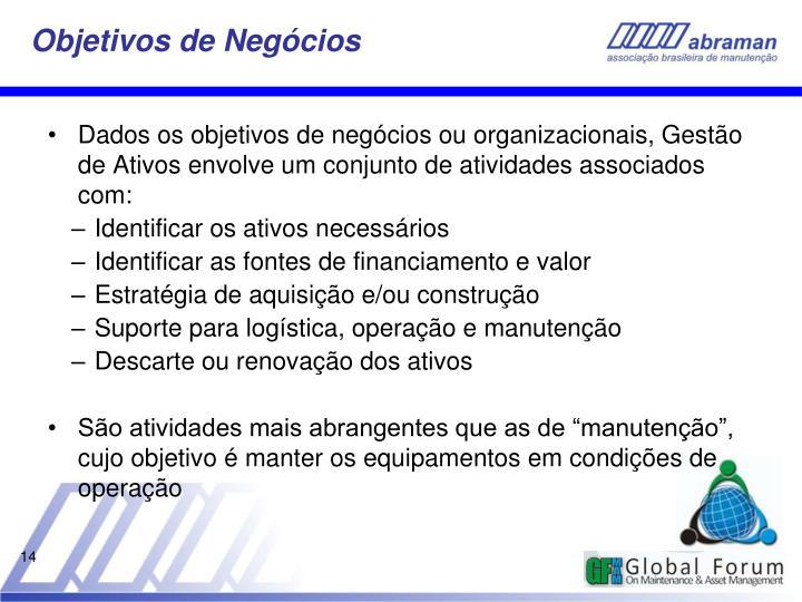 Objetivos de Negócios