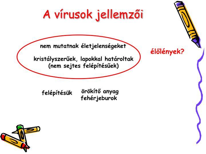 A vírusok jellemzői
