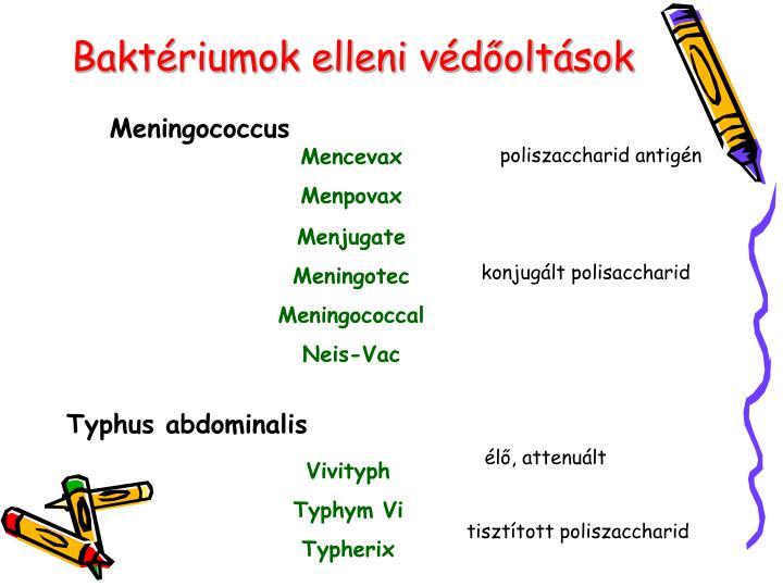 Baktériumok elleni védőoltások