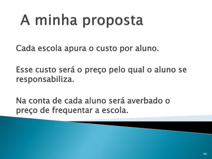 A minha proposta