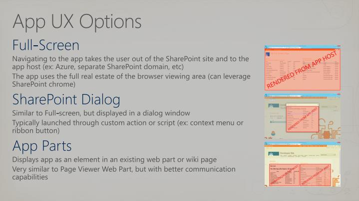 App UX Options