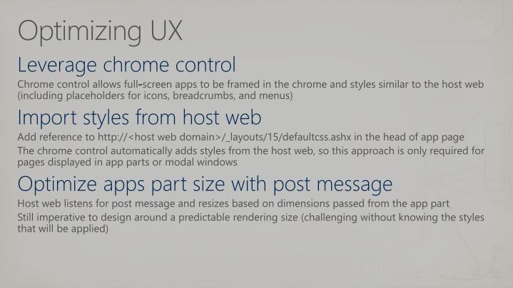 Optimizing UX