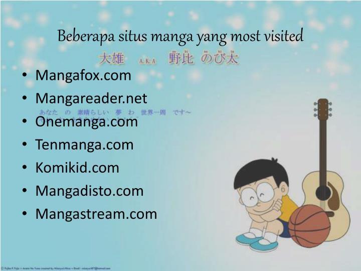 Beberapa situs manga yang most visited