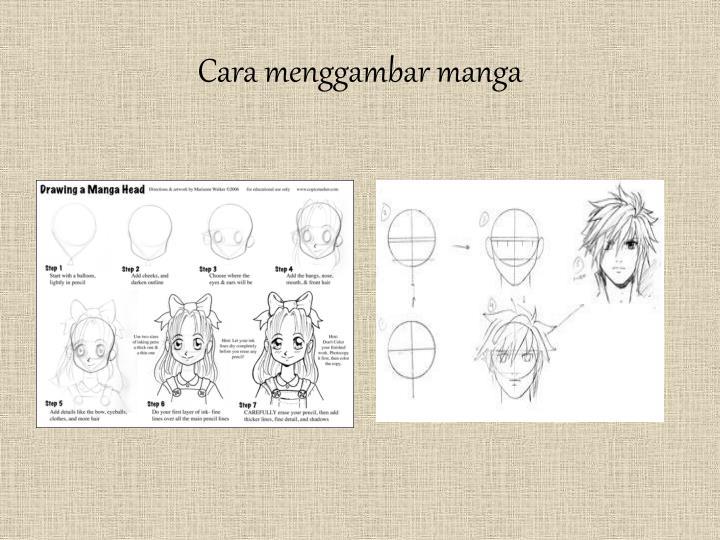 Cara menggambar manga