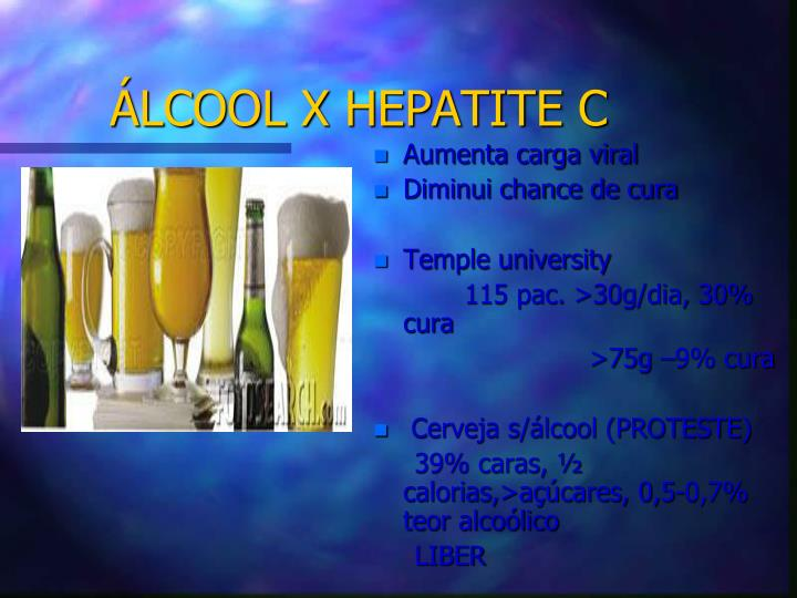 ÁLCOOL X HEPATITE C