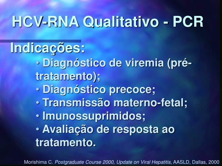 HCV-RNA Qualitativo - PCR