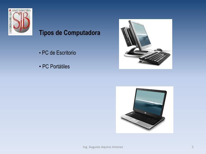 Tipos de Computadora
