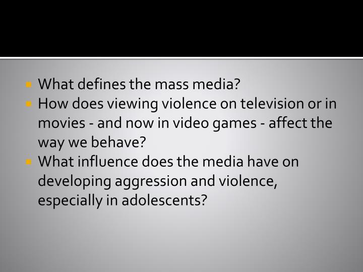 What defines the mass media?