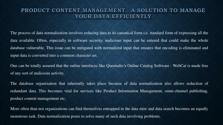 Product Content Management - A solution to manage your data efficiently