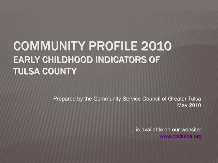 Community Profile 2010