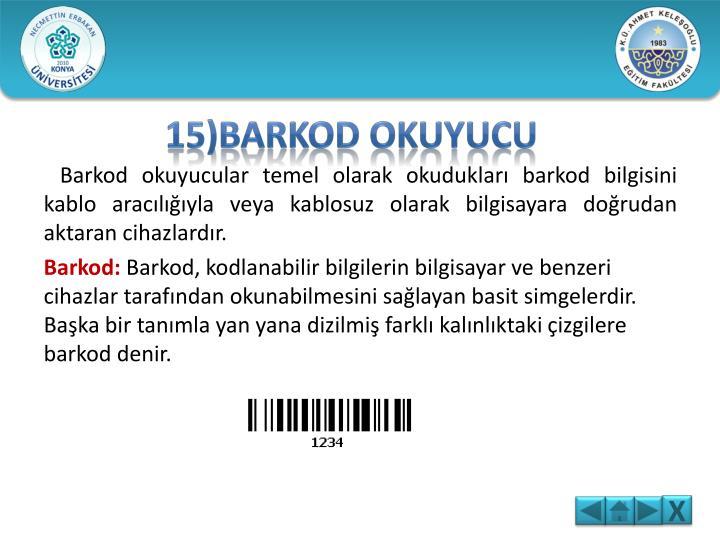 15)BARKOD