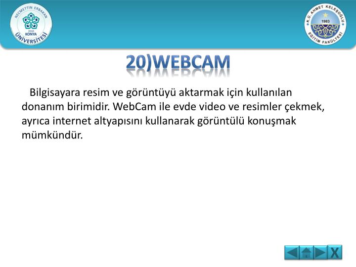 20)WEBCAM