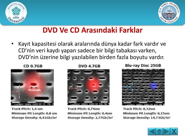 DVD Ve CD Arasındaki Farklar