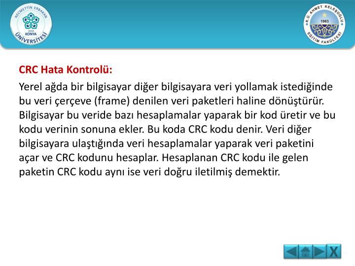 CRC Hata Kontrolü: