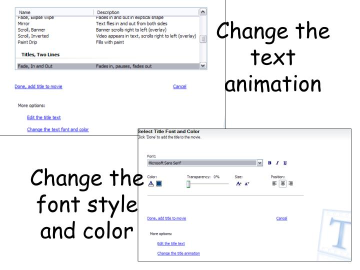 Change the text animation