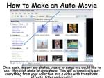 how to make an auto movie