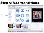 step 3 add transitions