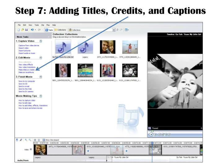 Step 7: Adding Titles, Credits, and Captions