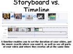 storyboard vs timeline