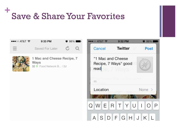 Save & Share Your Favorites