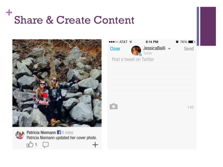 Share & Create Content