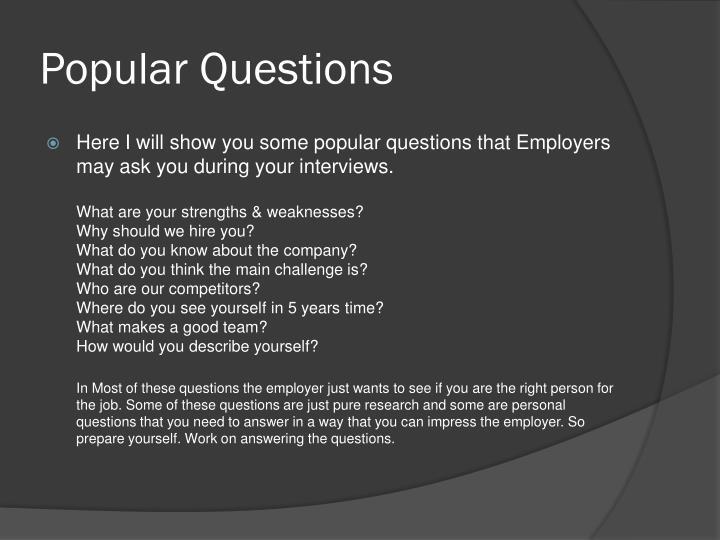 Popular Questions