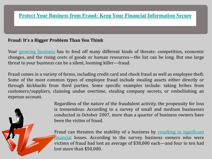 Protect Your Business from Fraud: Keep Your Financial Information Secure