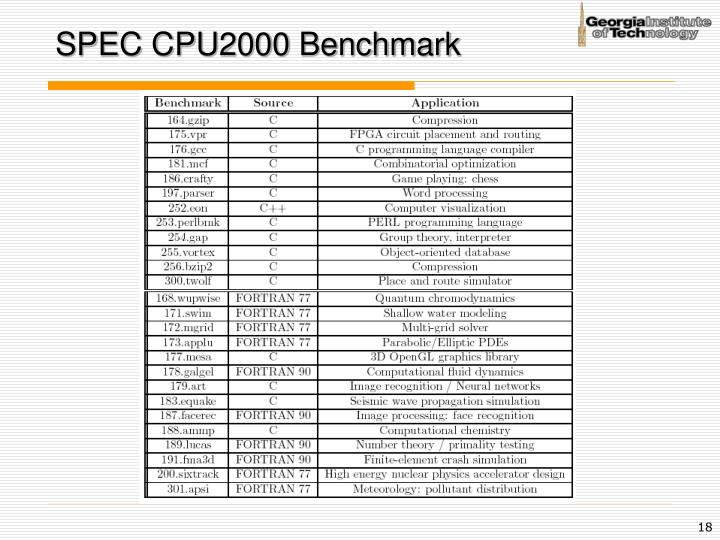SPEC CPU2000 Benchmark