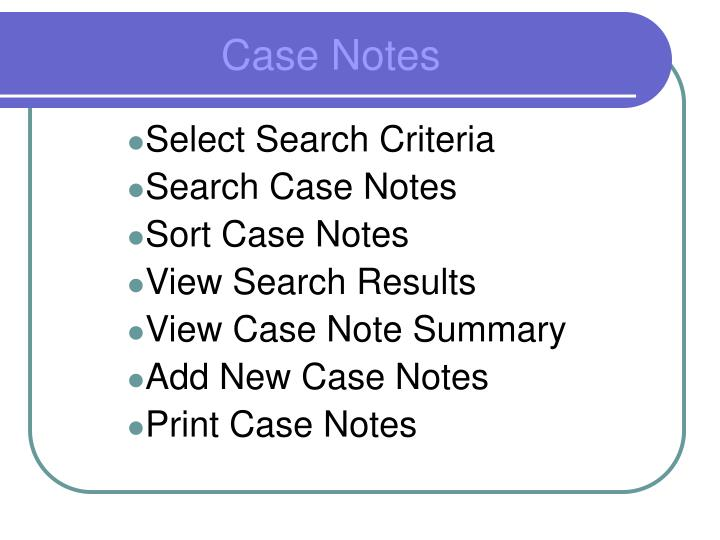Select Search Criteria