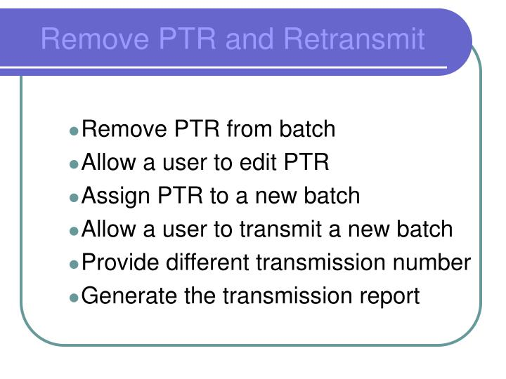Remove PTR from batch