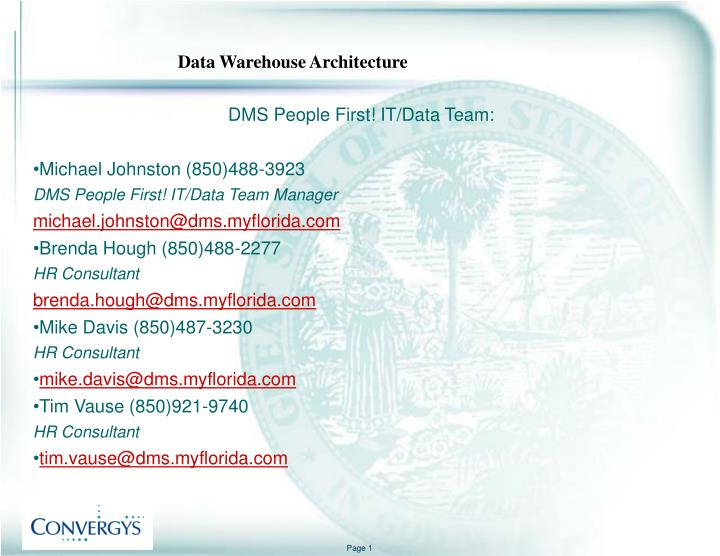 DMS People First! IT/Data Team: