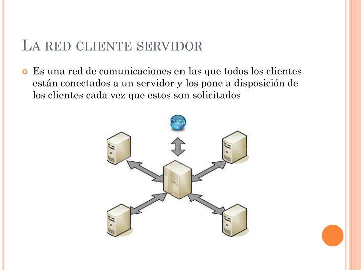 La red cliente servidor